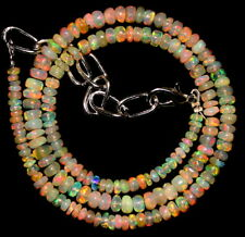 "33 Crt 1 Strand 3 mm to 4.5 mm 14.1"" Natural Ethiopian Opal Gemstone Beads 0639"