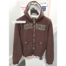 ABERCROMBIE & FITCH MENS CLASSIC HOODIE SWEATSHIRT BROWN SIZE LARGE