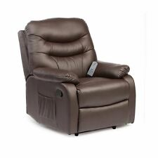 Drive Hebden Manual Recline Chair Heat Massage Armchair Faux Leather Reclining