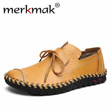 Merkmak Genuine Leather Casual Shoes Men Soft Loafers Moccasins Comfortable