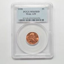 1998 Lincoln Memorial Penny PCGS MS-65 Red *Wide AM* *Q93