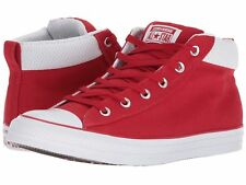 Converse Men's Chuck Taylor All Star Street Mid Gym Red Gym Red White