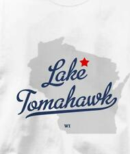 Lake Tomahawk, Wisconsin WI MAP Souvenir T Shirt All Sizes & Colors