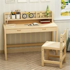 Solid Wood Desk and Chair Set With Drawer Great for Kids Works As Student Desk