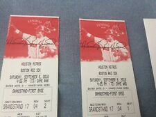 Two Baseball Tickets Historic Fenway-Red Sox vs Astros ,great seats Sept. 8, 201