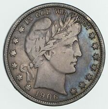 1906-D Barber Half Dollar- Circulated *3422