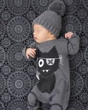 Newborn Baby boy girl jumpsuit clothes rompers cotton long sleeve cartoon infant