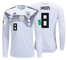 ADIDAS TONY KROOS GERMANY LONG SLEEVE HOME JERSEY WORLD CUP 2018 PATCHES.