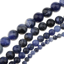 1 Strand Bulk Natural African Gemstone Dark Blue Beads Round 4mm-10mm DIY Charms