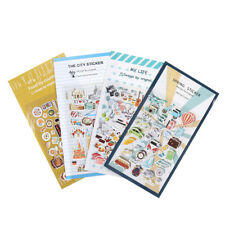 2x New Vintage Travel Food DIY Decor PVC Stickers For Diary Scrapbooking G Jm
