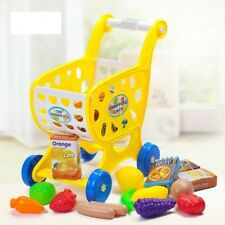 Grocery Shopping Cart Toy Set Kids Pretend Play Children Shopping Christmas Gift