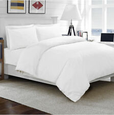 NEW WHITE COMPLETE HOME BEDDING ITEM 800TC SOLID 100% COTTON CHOOSE SIZES & ITEM