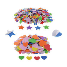 350/800pcs Star Heart EVA Foam Shape Self Adhesive Decorative Crafts Sticker