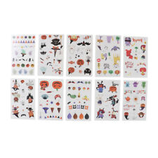 Pack of 10 Sheets Temporary Tattoo Assortment Kids Party Favors Stickers