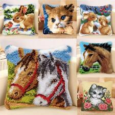 Latch Hook Kits for DIY Pillow Cover Sofa Cushion Cover with Pattern Printed