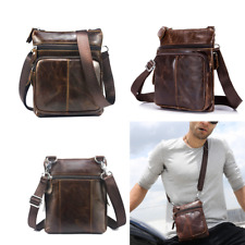 Vintage Mens Genuine Leather Handbag Satchel Shoulder Messenger Bag Briefcase A