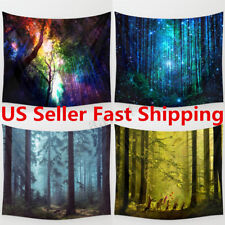 Indian Mandala Forest Star Space Tapestry Bohemian Bedspread Hanging Wall Decor