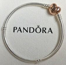 PANDORA Moments Silver Bracelet with Rose Heart Clasp 580719 Genuine New