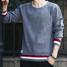 Men's Fashion Casual Crew Neck Knit Sweaters Pullover Knitwear Jumper Coat Tops