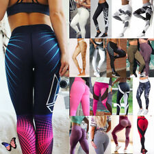 Women Sport Pants Waisted Yoga Fitness Leggings Push UP Running Stretch Trousers