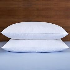 Puredown® 2 Pack White Goose Down Feather Bed Pillows 233TC 100% Cotton Cover