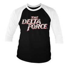 Officially Licensed The Delta Force Washed Logo Baseball 3/4 Sleeve Tee