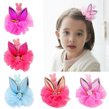 Hair Accessories Princess Hairpin Girls Rabbit Ears Lace Baby Head Jewelry -WE8