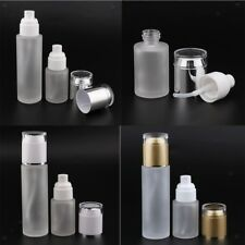 2PCS Empty Cosmetic Bottle Glass Travel Bottles Toiletries Container 30/80ml
