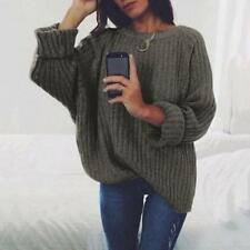 Long Sleeve O Neck Loose Casual Pullover Knitwear Women Clothing