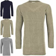 Mens Long Sleeve Chunky Cable Knit Pullover Jumper Longline Winter Sweater Top