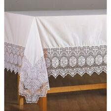 ALTAR LINEN Frontal CATHOLIC ALTAR 9 inch Lace trimmed IHS with Cross design