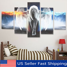 5Pcs Modern Angel Ice&Fire Canvas Print Art Painting Wall Picture Home Decor !