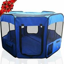 Animal Exercise Pet PlayPen 8 Panel Puppy Dog Cage Large Portable Kennel Fence