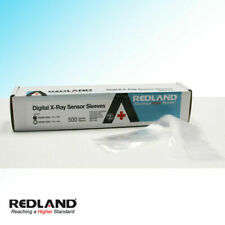 "REDLAND Digital X-Ray Sensor Sleeves Size 8 ""x 1-5/8"" Clear 500/Pack -FDA"