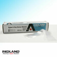 "REDLAND Digital X-Ray Sensor Sleeves Size 8""x1-3/8"" Clear 500/Pack -FDA"