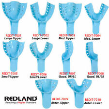 REDLAND DENTAL Impression Trays Perforated 12 Pieces/Bag -FDA