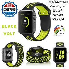Replacement Silicone Sport Band Strap For Apple Watch 42mm 38mm Series 4 3 2 1