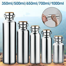 Premium 350-1000ml Stainless Steel Vacuum Insulated Water Bottle Double Wall