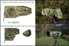 For NIKON Waterproof Multi Camo & DPM Woodland Camera Lens Cover & CAP SETS