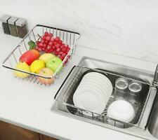 Expandable Dish Drying Rack Stainless Steel Rack Adjustable Arms Over the Sink