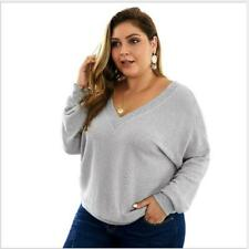 Pullover Tops Sweater Jumper Autumn Casual Warm Long Sleeve Loose Knit Women's