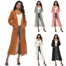 Outwear Womens Long Sleeve Knitted Coat Jacket Cardigan Loose Long Casual