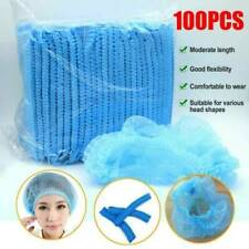 Lots 100x Disposable Hair Head Covers Net Bouffant Cap Kitchen Medical Non Woven