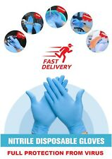 ANTI-VIRUS 100PCS Comfortable Disposable Medical Nitrile Rubber Safety Gloves US