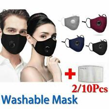 Washable Reusable PM2.5 Anti Air Pollution Face Shield Cover W/ Respirator