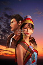 123162 Shenmue Ryo and Shenhua Sega DreamCast Decor LAMINATED POSTER FR