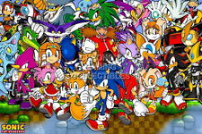 122358 Sonic and FriendSega GeiCD Saturn DreamCast Decor LAMINATED POSTER DE