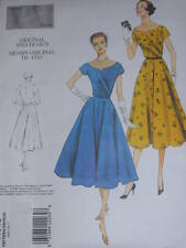 RETRO 1953 VOGUE #V1043 - LADIES ELEGANT FLARED DRESS & BELT PATTERN  6-20 uc