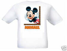 MICKEY MOUSE PERSONALISED KIDS T SHIRT AGE 2 -12