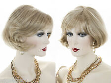 Short Straight Blond Blonde Red Bob Style Wig Bangs